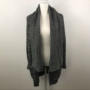 Calvin Klein open cardigan knit draped sweater Lg